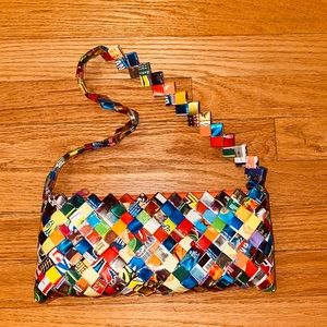 Handmade recycled wrapper purse